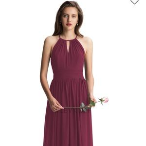 BNWT Bill Levkoff Wine colored dress size 16